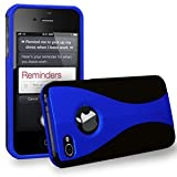 AIO 3-Piece Hard Case Cover for Apple iPhone 4g 4s 4 s 8GB 8GB 16GB 32GB 64GB - Dark Blue