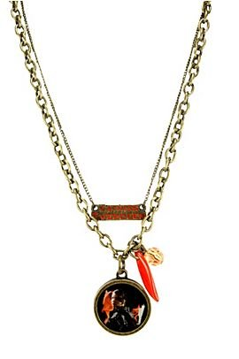 The Hunger Games Movie Katniss Double Chain Necklace Prop Replica