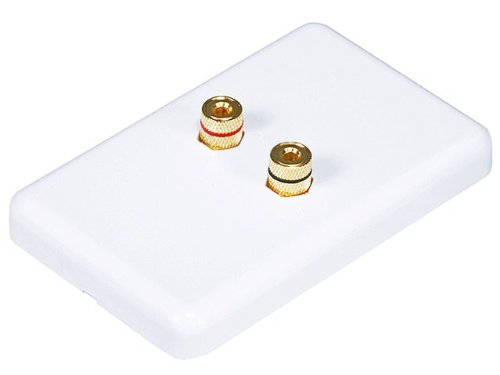 Monoprice 103639 High Quality Banana Binding Post Wall Plate For 1 Speaker