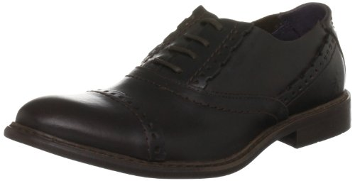 Fly London Women's Holt Leather Dark Brown Mules
