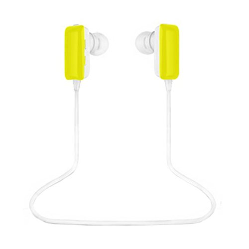 Best_Express Mini Lightweight Wireless Stereo Sports/Running & Gym/Exercise Bluetooth Earbuds Headphones Headsets W/Microphone For Iphone 5S 5C 4S 4, Ipad 2 3 4 New Ipad, Ipod, Android, Samsung Galaxy, Smart Phones Bluetooth Devices (Yellow)