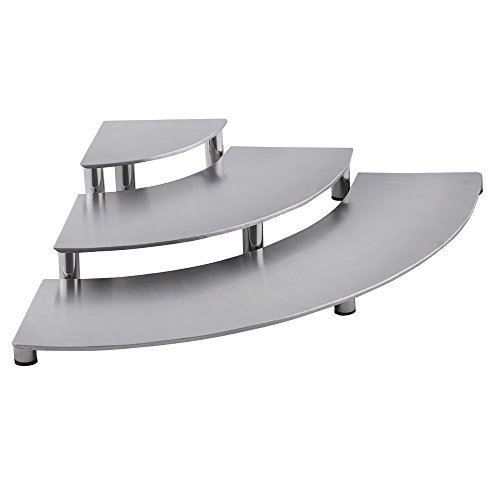 Stainless Steel Risers Smooth Finish Set of 3 (Used Deli Showcase compare prices)