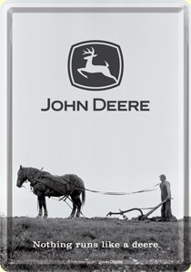 John Deere Horse metal postcard / mini-sign