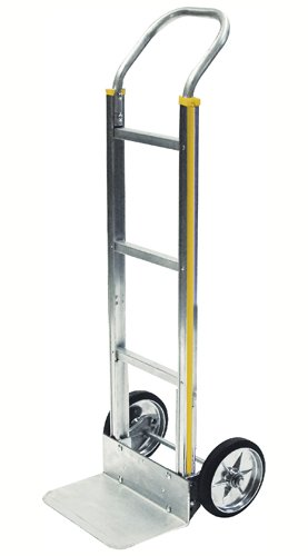 Milwaukee Hand Trucks 45100 Aluminum Flow Back Handle Truck with Square Frame and 8-Inch Mold-On Wheels