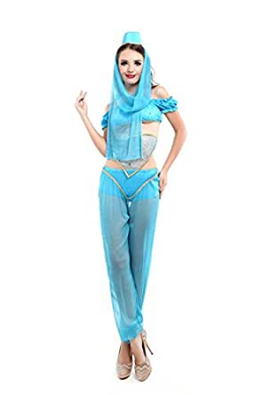 COSWE Women's Princess Jasmine Aladdin Belly Dance Costume