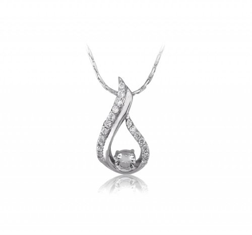Lifestyle Infinity Lifestyle Clear Cubic Zirconia Droplet Necklace For Women (P204009R) (Transperant)