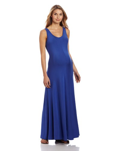 Ingrid & Isabel Women'S Maternity Tank Maxi Dress, Sapphire, Small front-913386