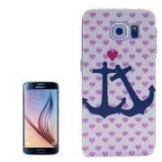 Anchor Pattern Transparent Frame Plastic Hard Case for Samsung Galaxy S6 / G920