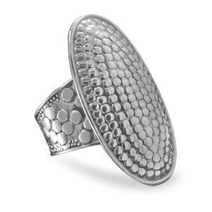 Oval Dot Design Ring / Size 6