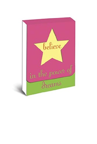 "Pink purse notepad with magnet closure ""Believe in the power of dreams"""