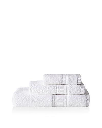 Laura Ashley Leyton Towel Set, White, 3 Piece