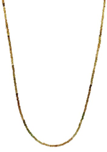 Petro Tourmaline Rondelle with 14K Gold Spring Ring Clasp Necklace, 18