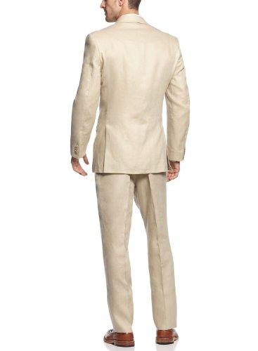 MICHAEL Michael KorsMichael Kors Tan Linen 2-piece Suit 38 Short 38S Flat Front Pants 31 Waist