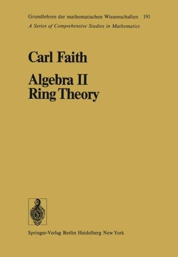 Algebra II Ring Theory: Vol. 2: Ring Theory (Grundlehren der mathematischen Wissenschaften)