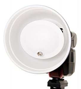 Mini Beauty Dish with colour gels for speedlites Fitting A