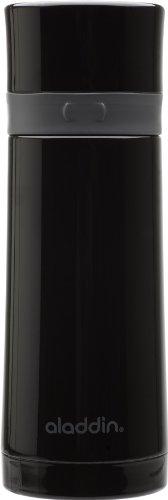 Aladdin Ebony Stainless Steel Vacuum Bottle 10Oz, Black