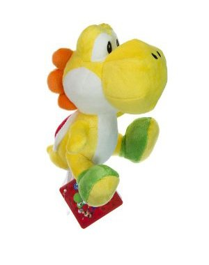 Buy Low Price Global Holdings Nintendo Super Mario Bros. Wii Plush Toy – 6″ Yellow Yoshi Figure (B004XNFKFK)