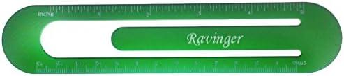 Bookmark  ruler with engraved name Ravinger first namesurnamenickname