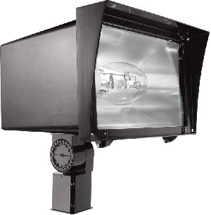 Rab Lighting Fzh400Sfpsq Floodzilla Pulse Start Metal Halide Floodlight With Slip Fitter Mount, Ed28 Type, Aluminum, 400W Power, 40000 Lumens, 120/208/240/277V, Cwa-Hpf Qt Ballast, Bronze Color