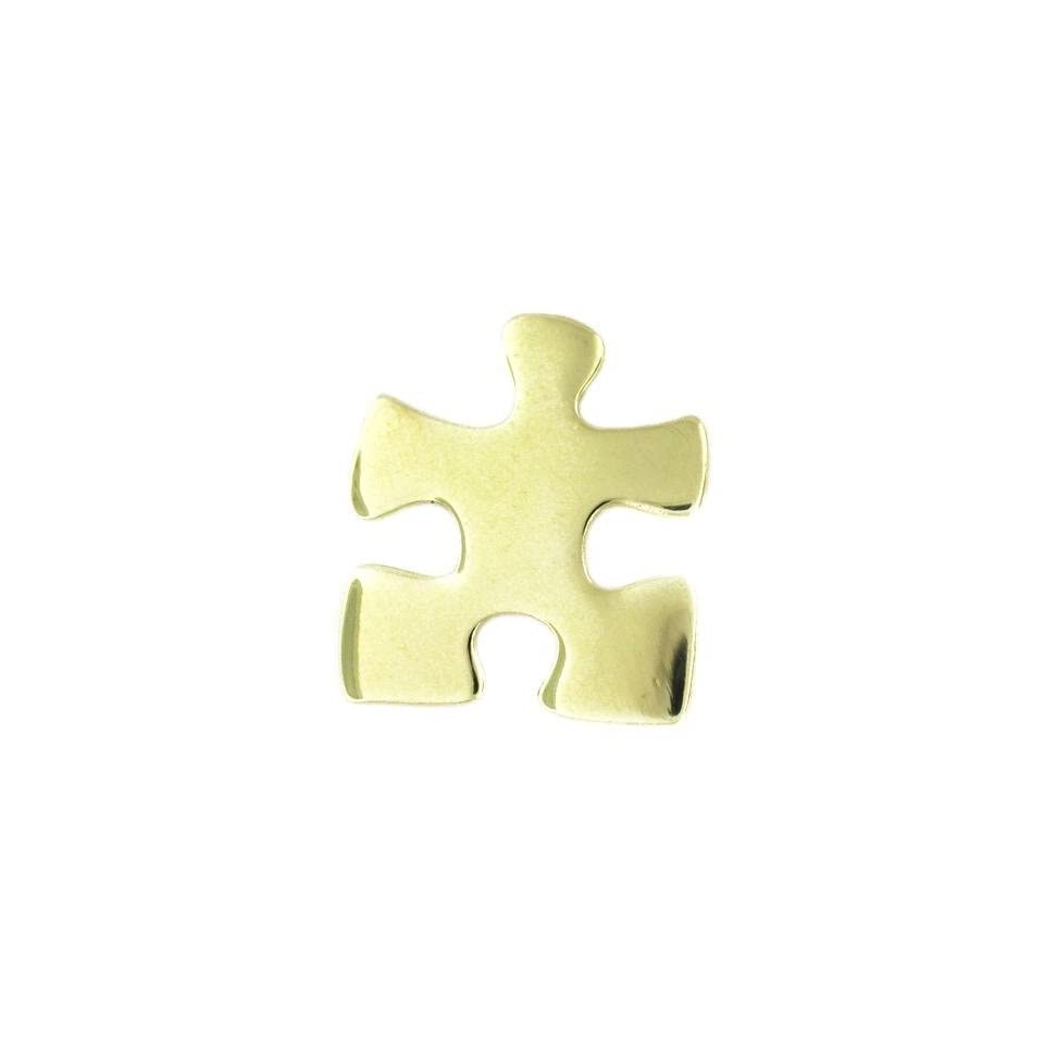 Autism Awareness Gold Puzzle Pin Fundraiser 25 Pack