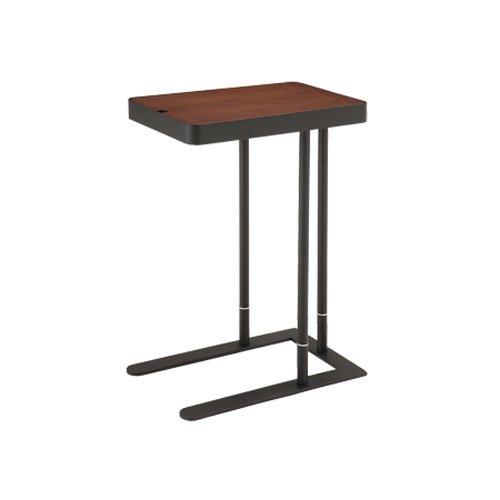 あずま工芸 サイドテーブル Noelノエル ダークブラウン(2段階高さ調節・天板下部収納付き) SST810
