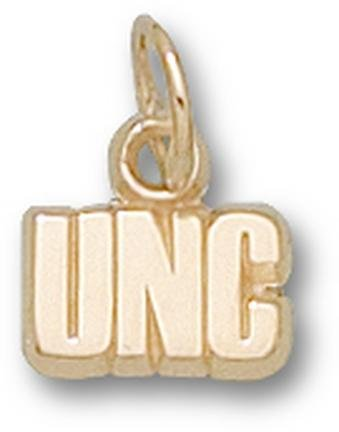 North Carolina Tar Heels UNC 3 16 Charm - 14KT Gold Jewelry by Logo Art