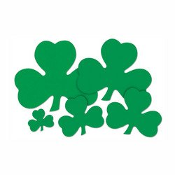 Printed Shamrock Cutout Party Accessory (1 count) (1/Pkg) - 1