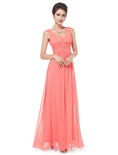 HE08110CO18, Coral, 16US, Ever Pretty Casual Dresses For Women 08110