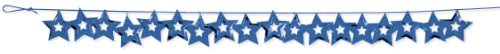 Creative Converting Metallic Stars Confetti Party Garland, Blue