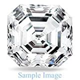 3.070 Carat - Asscher Cut Loose Diamond, VVS1 Clarity, H Color