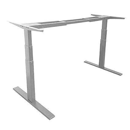 ActiveDesk Telaio fai da te per scrivania, per lavorare in piedi, con controllo elettrico per l'altezza regolabile da 60cm a 127cm, colore grigio
