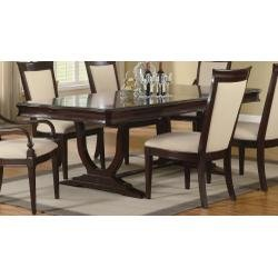 Buy Low Price Coaster Furniture Beverly Dining Table with Leaf in Merlot Cappuccino by Coaster (B0040942WO)