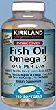 313iBfBjR9L. SL160  Kirkland Signature Enteric Coated Fish Oil Omega 3 1200 MG Fish Oil, 684 MG of Omega 3 Fatty Acids, 180 softgels