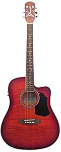 Granada PRFLD 20CEQ DLX Dreadnought Cutaway Acoustic Guitar, with EQ  cherry  available at Amazon for Rs.10925