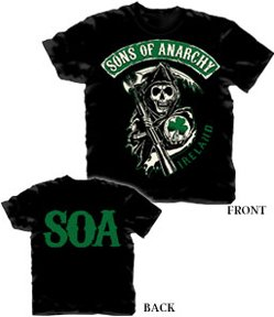 Sons of Anarchy T-shirt SOA Ireland Design-medium