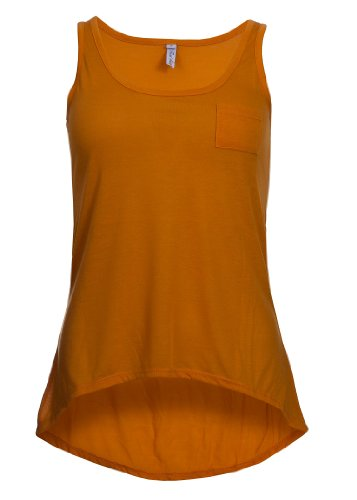 Eight2Nine Damen Top by Fresh Made Vokuhila Brusttasche Single Jersey UNI beige sunny