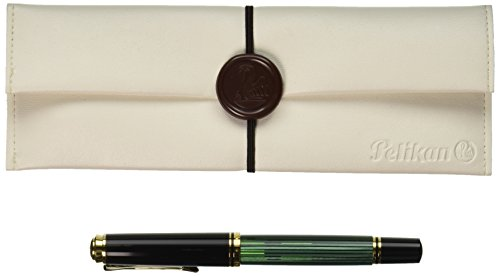 PELIKAN Souveran M400 Fountain Pen, Extra Fine, Black/Green (994848) (Fountain Pen Pelikan Extra Fine compare prices)