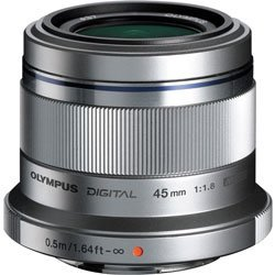 Olympus M. Zuiko Digital ED 45mm f/1.8 Lens for Micro Four Thirds Cameras