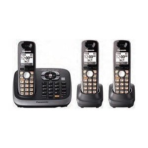Panasonic Kx-Tg6543B Dect 6.0 Plus Expandable Digital Cordless Phone And Answering System With 3 Handsets
