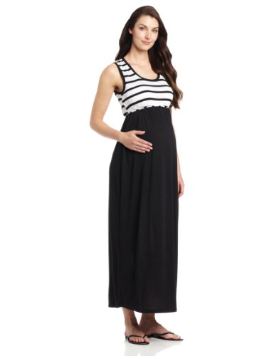 Three Seasons Maternity Women's Sleeveless Stripe