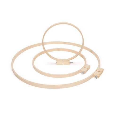 Bulk Buy: Darice DIY Crafts Wood Quilting Hoops Round 10 inches (6-Pack) 39997