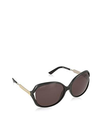 Gucci Sonnenbrille 0076S_001 (60 mm) schwarz/silberfarben