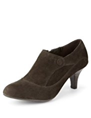 Footglove™ Suede Wide Fit Button Shoe Boots