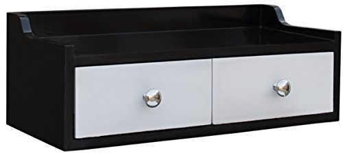 Mubell Toad Wall Shelf with Drawers, Perfect as entryway wallshelf for storing keychains, wallets, small accessories like id card.