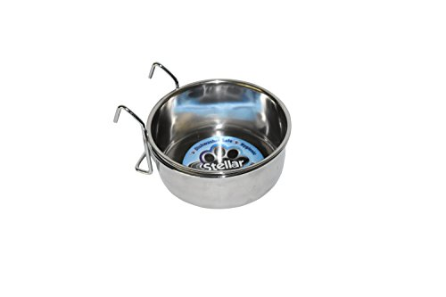 Stellar Bowls Coop Cup with Hook Holder for Birds, 20 oz
