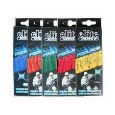 "Elite Hockey Prolace Waxed Hockey Skate Laces -- SET of 2 Pairs (Yellow, 72"") - 1"