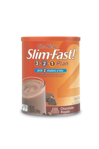 Slim-Fast 3-2-1 Plan, Shake Mix, Chocolate Royale, 12.83-Ounce Canister (Pack of 3)