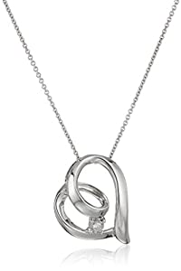 Sterling Silver Diamond Accent Heart Pendant Necklace, 18