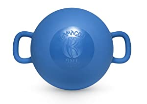 Kamagon Exercise Ball, Blue, 9-Inch with workout DVD