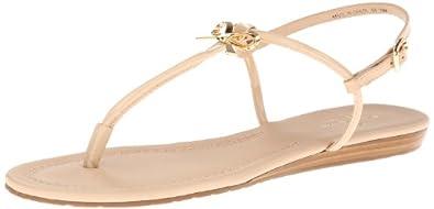 kate spade new york Women's Tracie Dress Sandal,Powder/Patent/Nappa,6 M US